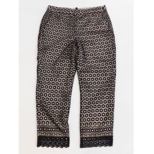 NEW J Crew Womens Daisylace Pants Black Sz 14